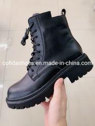 أحذية ركوب الخيل الجلدية المصنوعة من المطاط المنعش من أجل سيدة الموضة
