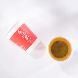 Kundenspezifisches eingemachtes sofortiges Papiertee-Cup mit grüne Blumen-Frucht-Kräutertee englisches Frühstück-Schwarzes Oolong Jasmin PU-Erh nach innen für Büro-Sitzungs-Arbeitsweg-Tee