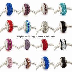 Gioielli di moda 925 Sterling Argento europeo stile cristallo perline