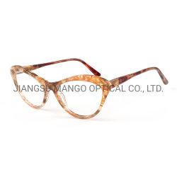 Oeil de Chat acétate verres de lunettes de Châssis optique Mesdames châssis lunettes