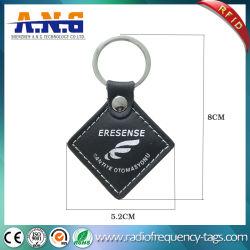 Smart Personalizar Llavero RFID de la programación, los vehículos de cuero