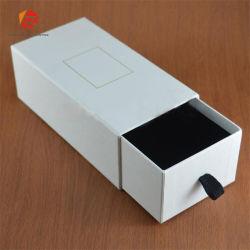 Logotipo personalizado cuadrado negro de lujo en envases de cartón solo Cufflink Caja de regalo