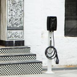 شاحن تيار متردد لنقطة الشحن الرئيسية من النوع 2 للسيارة الكهربائية شاشة LCD من الجيل الرابع BT مقاس 4.3 بوصة من المستوى الثاني مزودة بمحطة شحن بقدرة 11 كيلو واط شاحن السيارة الكهربائية
