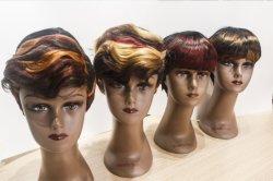 Доставка по всему миру смешанной окраски синтетических короткое замыкание Wig для женщин продажи