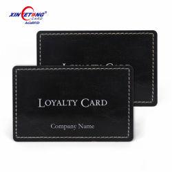 Speciale zwarte plastic kraskabel RFID Smart Contactless IC magnetische kaarten F08 NFC-loyaliteitskaart met PVC-chip