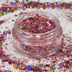 Glitter holographique de formes Mix Glitter Chunky cosmétiques pour l'artisanat/organisme/clous Decoratuions