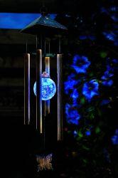 Solarwind-Zarge-Licht mit Farben-änderndem Glaskugel-Garten
