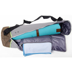 Ventes en gros Eco Friendly coton Sac de transport étanche tapis de yoga avec logo personnalisé pour une salle de Gym Sport