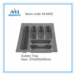 Cortados em cozinha de plástico da bandeja de talheres 450mm Cabinet Talheres Inserir