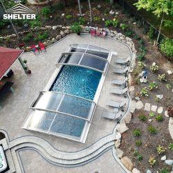 Защитите свой бассейн полка складной водонепроницаемый алюминиевая крышка пула