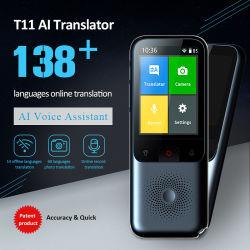 T11 Smart Multi-Language Online Translator Voice English Chinese Translation for رحلة عمل