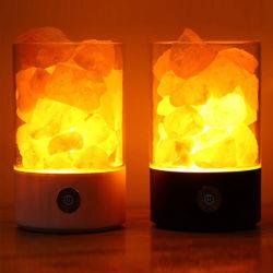 Salz-Lampen-Salz-Lampen-Preis-Großverkauf-Hand geschnitzte natürliche in Handarbeit gemachte Steinnachtlicht-hölzerner niedriger rosafarbener Kristallfelsen-Himalajasalz-Lampe mit dunklerem Schalter