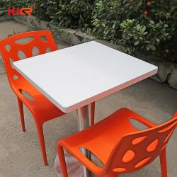 Hôtel moderne de marbre meubles Surface solide Table et chaise de salle à manger