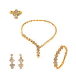 Bijoux en or Lady Accessoires de Mode de gros Bracelet Bague collier boucles d'oreilles