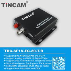 1, 2, 4, 8, 16 canaux Transceiver à convertisseur de vidéo à fibres optiques pour la vidéosurveillance