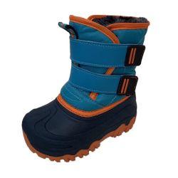 Semelle intérieure personnalisée en TPR bleu hiver pour enfants temps froid Chaussures de ski chaudes avec doublure en fausse fourrure pour enfant pour fille et Garçons