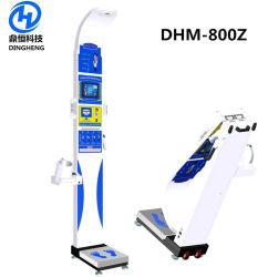 血圧および脂肪質のメートルDhm-800zが付いている超音波重量および高さの測定スケール