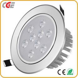 9W AC110V/220V LED LED Downlight encastré plafond feux décoratifs modernes pour la maison