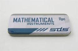 presente de promoção 11 PCS Conjunto Matemática Matemática Papelaria Caixa de geometria definida para Alimentação Escolar