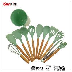 Hot vender utensilios de cocina 12 pzas Kitchenutensil de silicona (KTS123).