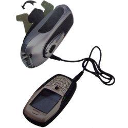 Torche LED Dynamo avec chargeur de téléphone mobile