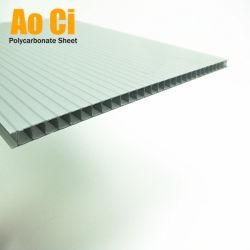 Mur en polycarbonate Lexan 2-PC Carte creux avec revêtement UV