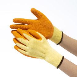 ヤーン園芸安い作業手袋が付いている熱い販売のしわの乳液のやしCoatd
