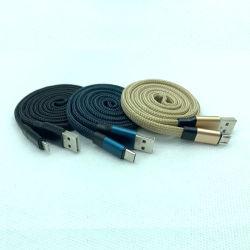 Ladend Kabel Nylon Mobiele Telefoon Zwarte Cellphone Snelle Micro- USB van de Verlichting van de Toebehoren type-C van de Kabel van de Lader Kabel de Mobiele Toebehoren van de Telefoon