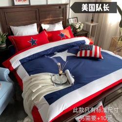 Het Katoenen die van 100% Blad van het Bed met Amerikaanse of Britse Vlag Kapitein America wordt geplaatst