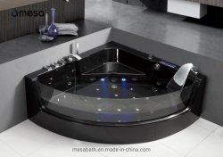 Black Acrylic Massage bad met jacuzzi en getemperd glas