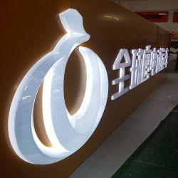 表示掲示板のアクリルのFacelitのロゴの文字のライトボックスを広告する電気手段はボードに署名する