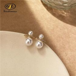 Orecchino minimalista della perla di anniversario degli orecchini della vite prigioniera dell'argento sterlina S925