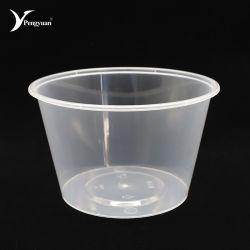 750ml descartáveis de plástico para uso doméstico de PP recipiente de alimentos