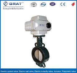 509 de la API de hierro fundido Wafer Válvula de mariposa concéntricos operadas por motor eléctrico