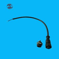 Conduite en caoutchouc métal M15 2 broches du connecteur de câble en nylon imperméable