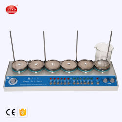 Laboratorio de multipunto instrumento calefacción agitador Agitador magnético con placa calefactora