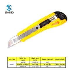 Cuchilla de corte con cuchilla retráctil y mango de ABS Para servicio pesado S661