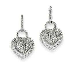 L'alberino a forma di cuore dell'argento sterlina 925 ciondola gli orecchini per le donne
