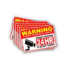 Signo de la cámara de seguridad personalizada pegatinas de alarma del sistema de videovigilancia signos de vinilo autoadhesivo