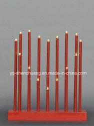 Weiße Kerzenbrücke - Weihnachtsherz 16 Festliche LED-Leuchten