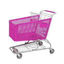 Novo Design Retail Mercearia American Carrinho de Supermercado de plástico do carrinho de compras