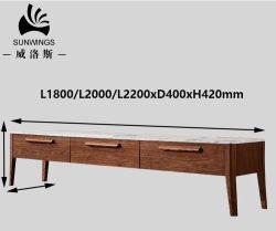 북유럽 거실 가구 승진 품목 1.8m Carrara 대리석 텔레비젼 대 텔레비젼 테이블