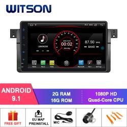 Processeurs quatre coeurs Witson Android 9.1 DVD de voiture GPS pour BMW E46 (1998-2005) M3 (1998-2005) construit en 16 Go de mémoire Flash Inand