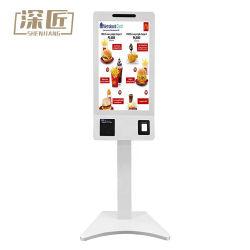 대중음식점과 시장을%s 간이 건축물 24 인치 접촉 스크린 간이 건축물 각자 순서 기계 지불