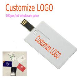 100pcs/lot cadeaux de mariage carte en plastique de l'impression couleur Flash USB Pen Drive Logo gratuit de 4 Go USB 2.0 8 Go de 16Go et 32 Go à 64 Go Memoria Stick