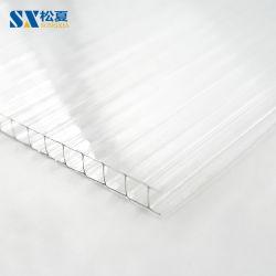 Effacer la coupe à blanc à double paroi de l'installation des feuilles de toiture en polycarbonate de serre de fixation