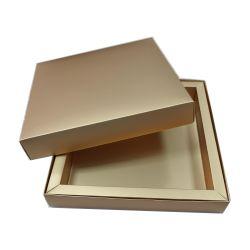 De Verpakking van het Vakje van de Gift van de Chocolade van het Deksel en van de Basis van de Luxe van de douane met het Gouden Document van de Folie