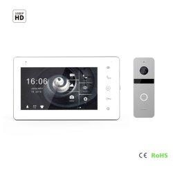 """7 """" l'écran IPS HD sonnette de la vidéo de sécurité à domicile Doorphone"""