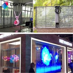 Écran LED en verre P3.96/affichage sur le mur de la fenêtre en verre transparent pour la fenêtre d'affiches Shop