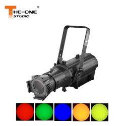 Alta potencia 300W Rgbal 5en1 elipsoidal de zoom manual de la luz de Leko